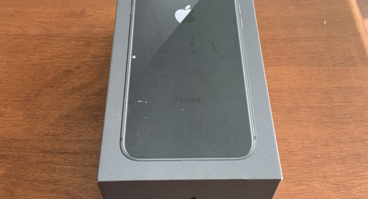 Iphone 8 black (64gb) with orginal box and equipment