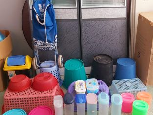 Shopping stroller,Plastic boxes , buckets and dustbins