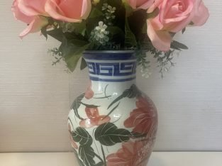 Flower vase (12 inches) with flowers